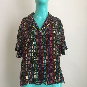 Retro Colorful 90s Cropped Dad Shirt